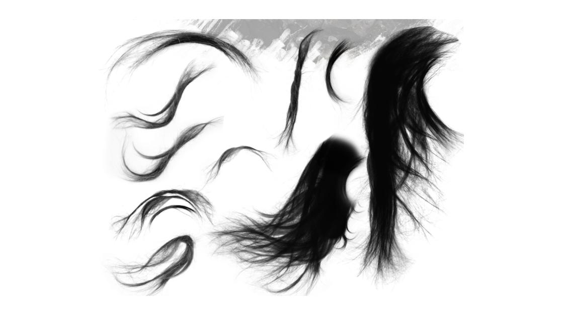 Pincel de mechas de cabelo para Photoshop
