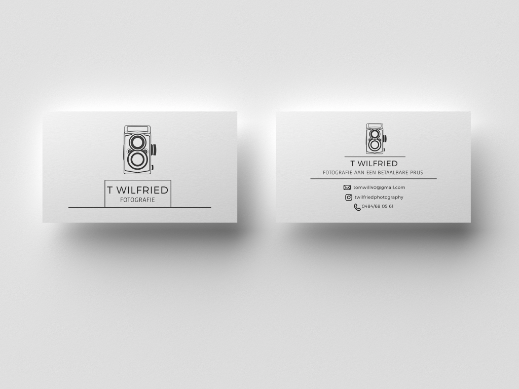 Imagem frente e verso do cartão de visitas