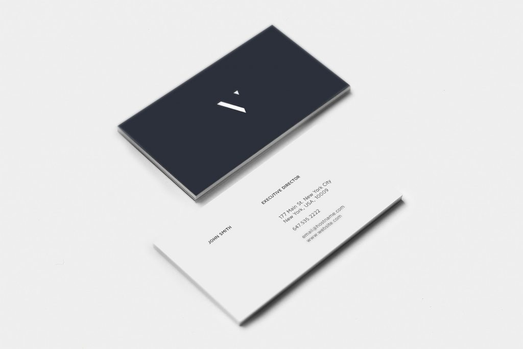 Imagem frente e verso do cartão de visitas.